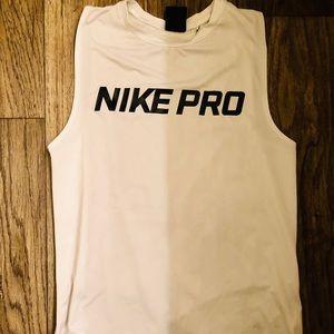 White Nike muscle tank